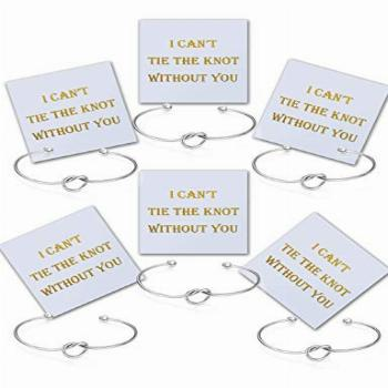 Chicnow Bridesmaid Gifts Love Knot Bracelet Set of 6
