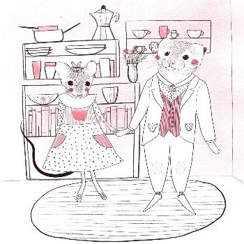 Did this cute little couple before they left for their big adventure ?