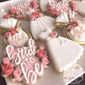 Find some good ideas for bridal shower cookies and wedding cookies to use for your wedding. Some go
