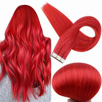 Full Shine Tape In Hair Extensions Remy Human Hair Glue In