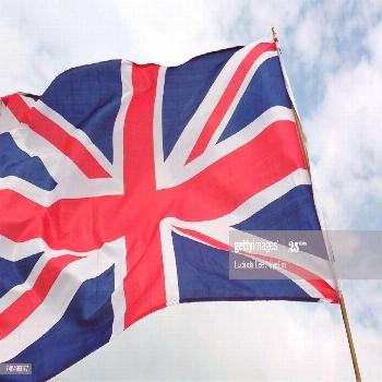 Low Angle View Of British Flag Against Sky Photography ,