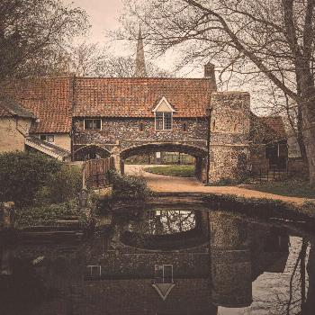 Pulls ferry; When the 12th century monks of Norwich decided to build a cathedral, they needed a way