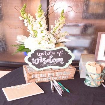This Mint To Be Bridal Shower features a gorgeous cake, decorations, games, and more. This Mint To