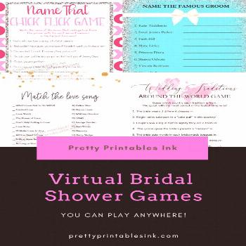 Virtual bridal shower games you can play from anywhere! By Pretty Printables Ink {}