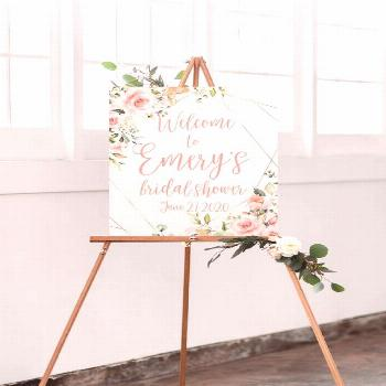 Welcome guests to your bridal shower with a statement poster designed by Foxbairn. This bridal show