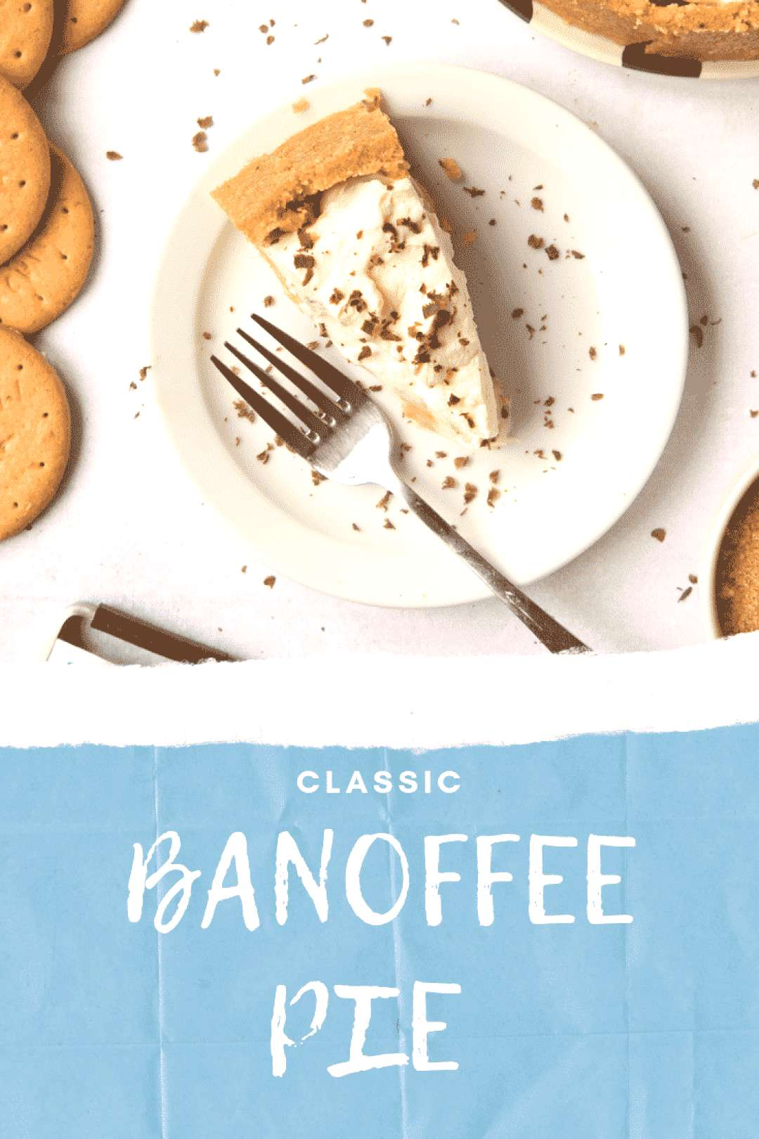Classic Banoffee Pie A Classic British Banoffee Pie has a sweet and crumbly biscuit (or graham crac